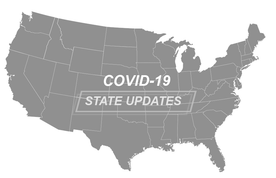 USA Map Covid-19 State Updates
